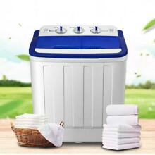 Compact Portable Washer   Dryer with Washing Machine and Spin Dryer White