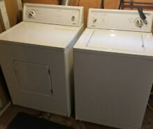 White Kenmore Washing machine   gas Dryer Will help load for local pickup 07410