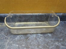 ELECTROLUX REFRIGERATOR DOOR SHELF BIN WITH SILVER TRIM PART  241505301