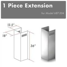 ZLINE CHIMNEY EXTENSION FOR WALL RANGE HOOD up TO 10 FT ceiling 687 304 model