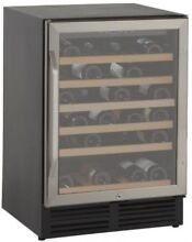 Stainless Steel Wine Cooler 50 Bottle Capacity Refrigerator Single Zone Fridge