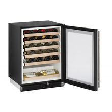 24 in Wide Stainless Wine Captain 48 Bottle Cooler Undercounter Refrigerator NEW