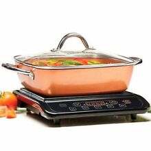 Copper Chef Induction Cooktop with 11  Casserole Pan