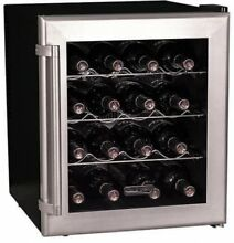 17 in Wide Thermoelectric 16 Bottle Wine Cooler Home Office Bar Refrigerator NEW