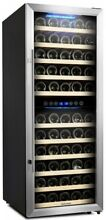 73 Bottle Thermoelectric Dual Zone Wine Cooler Freestanding Refrigerator Fridge