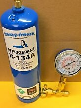 R134  R 134a  Refrigerant  LARGE CAN  28 oz  Check   Charge It Gauge  R134a KIT