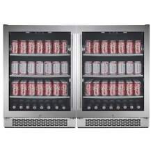 Avallon ABR241SGDUAL Built In 48 Inch Wide 304 Can Capacity Beverage Center