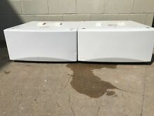 GENERAL ELECTRIC G E  FRONT LOADER  WASHER PEDESTAL WHITE SBSD277FWW  SBSD137H5W