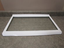 WHIRLPOOL REFRIGERATOR GLASS SHELF W STRIPES PART  W10283851