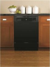 GE 289557 Built In 24 Inch Dishwasher  Black  5 Cycles   3 Options