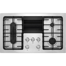 Frigidaire RC36DG60PS 36 Inch 4 Burner Gas Cooktop with Built In 500 CFM Downdra