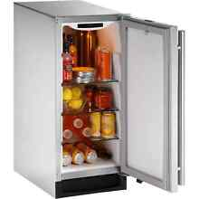 U Line 1000 Series 1215   15 Inch Outdoor Stainless Steel Refrigerator