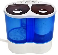 Costway Portable Mini Washing Machine Compact Twin Tub 15lb Washer Spin Spinner