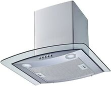 30 Inch Convertible Stainless Steel Tempered Glass Wall Mount Kitchen Range Hood