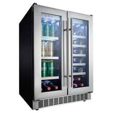 Danby DBC047D3 24 Inch Wide 21 Bottle Capacity Built In Beverage Center with Dua