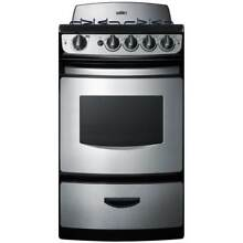 Summit PRO20 20 Inch Wide 2 4 Cu  Ft  Capacity Free Standing Gas Range with View