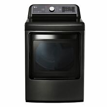 LG DLGX7601KE Black Stainless Steel 27 inch Gas Dryer With 7 3 cubic foot