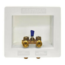 Eastman 60267 Dual Drain Washing Machine Outlet Box With Single lever Valve
