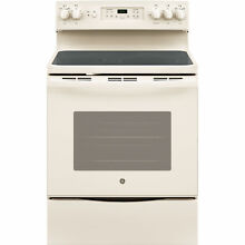 GE Bisque 30 inch Free Standing Electric Convection Range