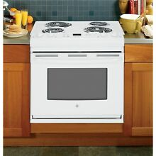 GE White 30 in Drop In Electric Range