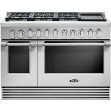 DCS  RGV2486GDN 48 Inch Gas Range 5 3 cu  ft  Convection Oven  2 4 cu  ft