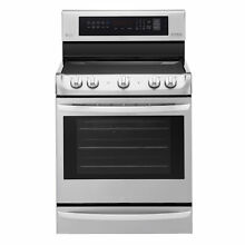 LG LRE4215ST 6 3 cu  ft Electric Single Oven Range with ProBake Convection  and