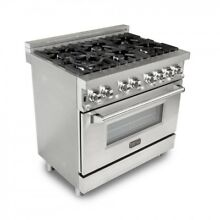 ZLINE 36 in  4 6 cu  ft 6 Gas Burner Electric Oven Range in Stainless Steel