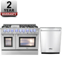 Thor 48inch Gas Range Stainless Steel Updates HRG4808U   24inch Dishwasher
