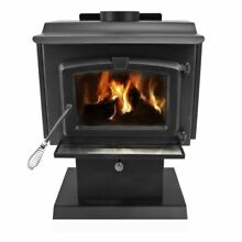 Pleasant Hearth HWS 224172MH Small 50 000 BTU Wood Burning Stove with Blower