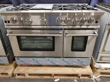 NEW OUT OF BOX BLUESTAR 48  RANGE 6 BURNERS GRIDDLE  2 OVENS