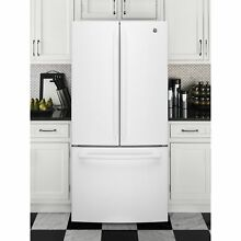GE Series Energy Star 24 8 cu ft  French Door White Refrigerator