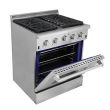 Thor Kitchen 30 inch Stainless Steel Professional Gas Range Silver  Stainless