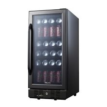 NewAir ABR 960B Compact 96 Can Built In Beverage Cooler  Black Stainless Steel