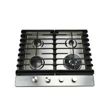 24 in  Gas Cooktop in Stainless Steel with 4 Burners including a Tri Ring Power