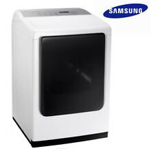Big Sale  New SAMSUNG DV50K8600GW 7 4 cu  ft  GAS Dryer with Steam   White