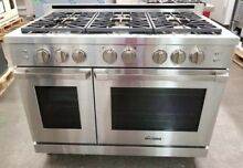 DACOR HERITAGE 48  STAINLESS STEEL GAS PRO RANGE SELF CLEANING