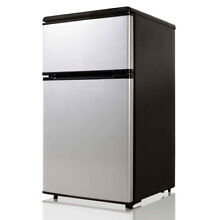 Equator Midea 3 1 cu ft  E Star Double Door Compact Refrigerator with Reversible