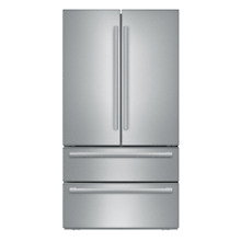 Bosch B21CL1SNS 800 Series 36 Inch Wide 21 Cu  Ft  French Door Refrigerator with