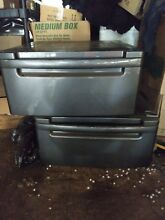Never Used LG 27  Grey Washer and Dryer Pedestal bins