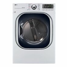 LG DLEX4370W 7 4 cu  ft  Ultra Large Capacity TurboSteam Electric Dryer in White