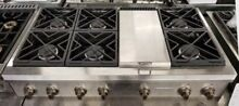 GE MONOGRAM 48  PROFESSIONAL GAS RANGETOP STAINLESS STEEL COOKTOP