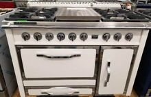 VIKING TUSCANY SERIES 48  DUAL FUEL RANGE ANTIQUE WHITE 4 BURNER AND FRENCH TOP