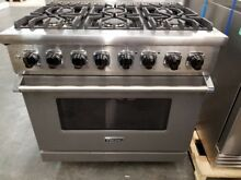 REFURBISHED VIKING 36  DUAL FUEL RANGE 6 BURNER IN GRAPHITE GRAY