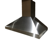 36  Wall Mounted Pyramid Shaped Range Hood   Windster RA 7736 Stainless Steel