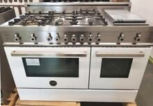 NEW OUT OF BOX WHITE 48 INCH BERTAZZONI PRO ALL GAS RANGE