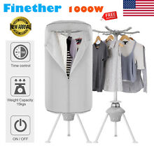 Electric Clothes Dryer Wardrobe Machine Drying 1000W Clothes Heater Racks Timer