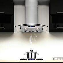 AKDY 30 inch OSWRHD05 30 AK Stainless Steel Curved Glass Wall Mount Range Hood