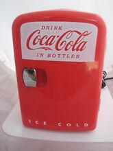 Coca Cola Mini Red Retro Personal Refrig Refrigerator Excellent For Desk Offece