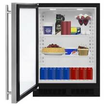 Marvel ML24RA1L 24  Wide 5 1 Cu  Ft  190 Can Built In Beverage Center with LED L