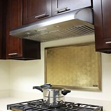 KOBE CH2236SQB 5 Deluxe 36  Under Cabinet Range Hood  6 Speed  640 CFM  LED